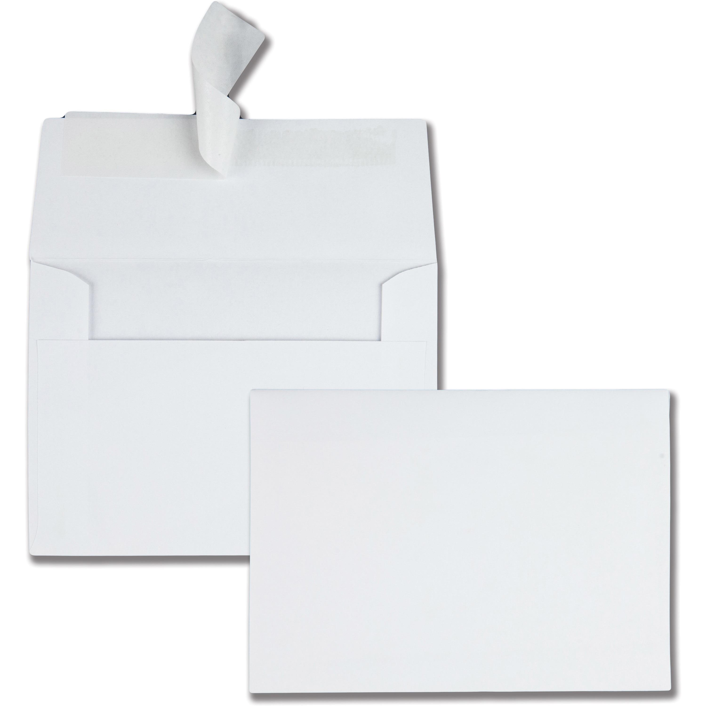 Quality Park Redi-Strip Specialty Paper Envelopes, White, 50 / Box (Quantity)