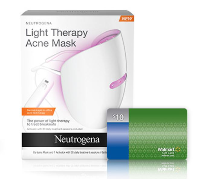 Neutrogena Light Therapy Acne Treatment Face Mask ($10 Walmart Gift Card w purchase)
