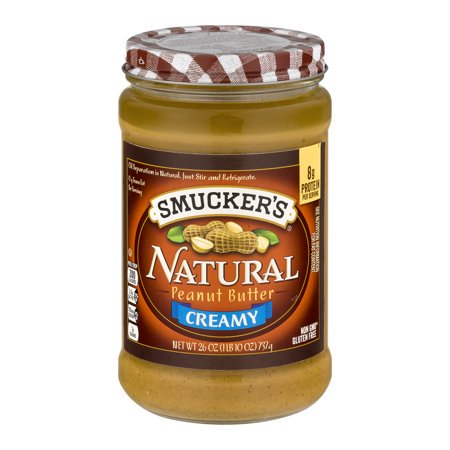 (2 Pack) Smucker's Natural Creamy Peanut Butter, 26