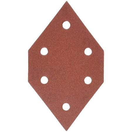 767602205 220 Grit Diamond-Shaped Hook & Loop Profile Sanding Sheets (5-Pack), Durable aluminum oxide grain for longer disc life and higher removal rates By -