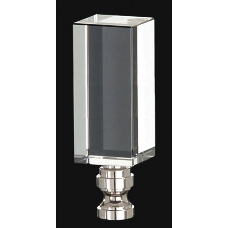 B&P Lamp Clear Acrylic Lamp Finial Base