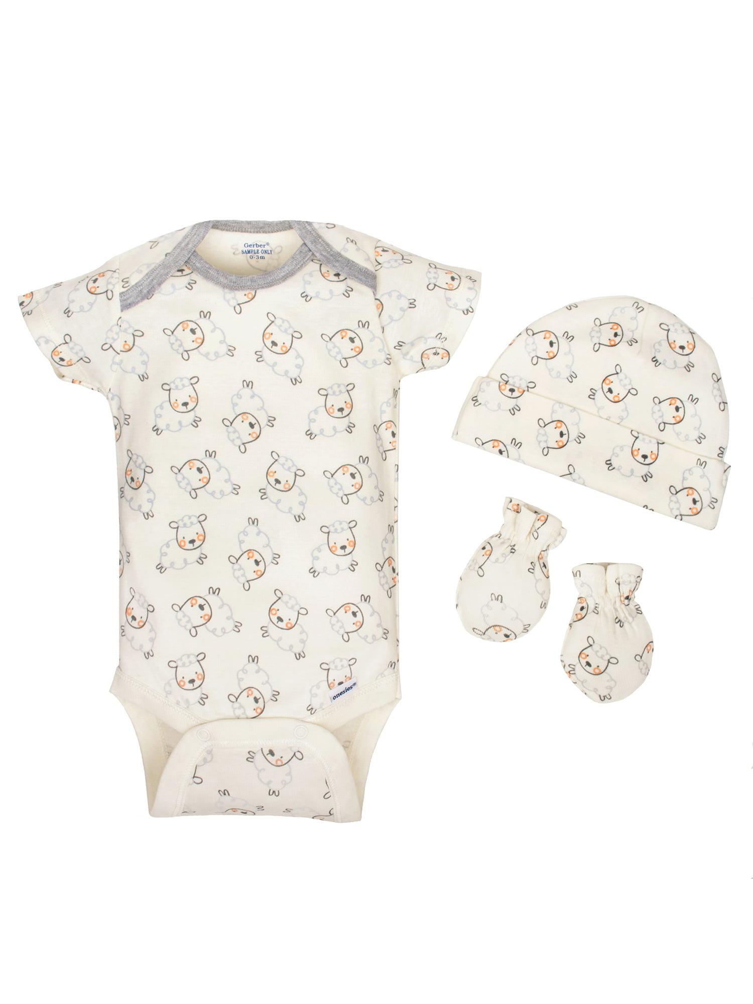 1a8a3435 Gerber - Gerber Newborn Baby Boy or Girl Unisex Onesies Brand Organic Short  Sleeve Bodysuits, 3-pack - Walmart.com