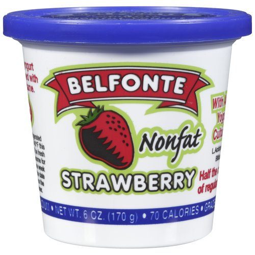 Belfonte Nonfat Strawberry Yogurt, 6 oz