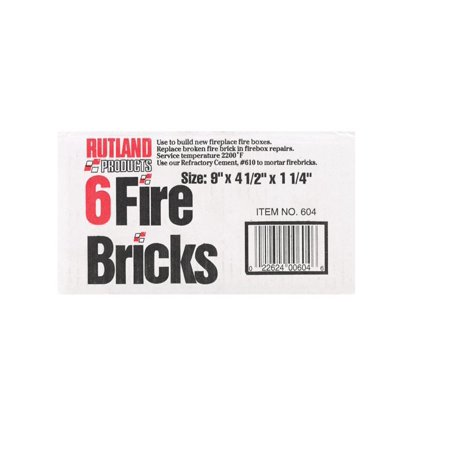 (Rutland Replacement Firebrick 4-1/2