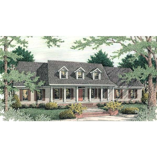 TheHouseDesigners-5374 Country House Plan with Crawl Space Foundation (5 Printed Sets)