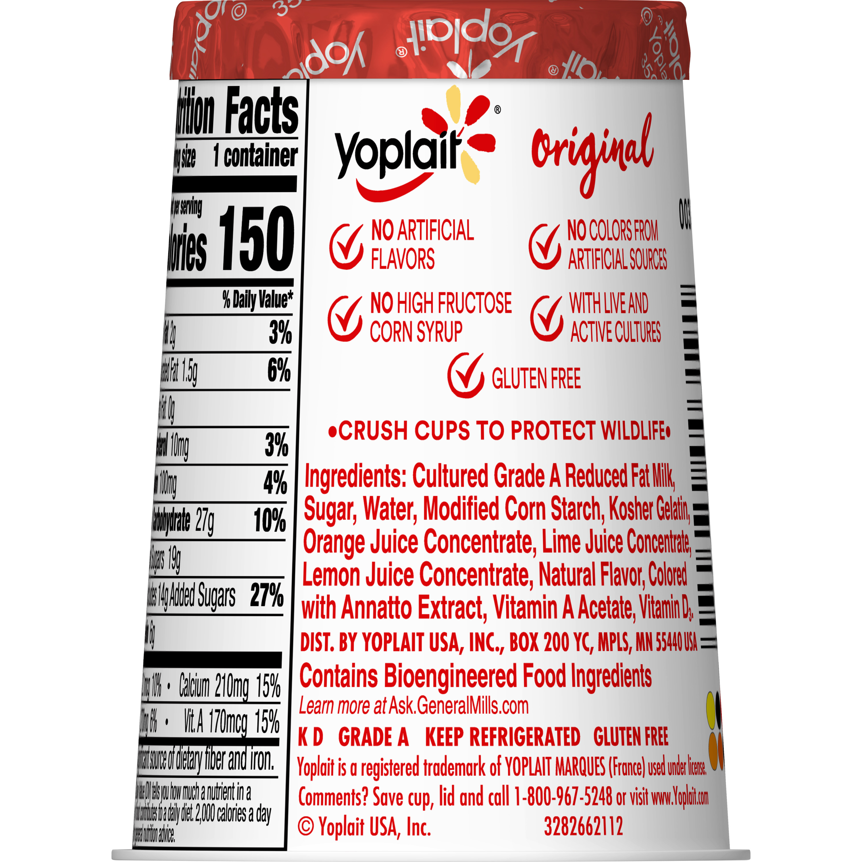 Yoplait Original Yogurt, Orange Crème