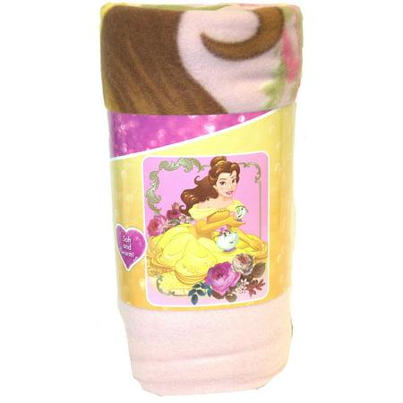 Disney Princess Belle Bontanical Light Weight Fleece Throw 50