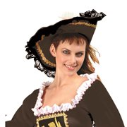 RG Costumes 65398 Red Velvet Pirate Girl Hat - Size Adult