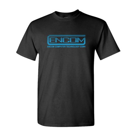 ENCOM - retro 80's movie evil empire - Mens Cotton T-Shirt - 80's Clothes Ideas