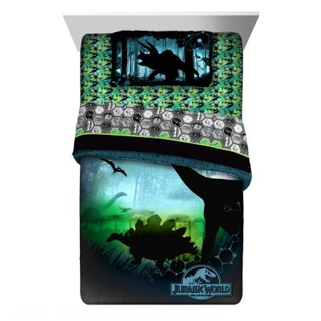 "Jurassic World ""Perfect World"" Reversible Twin Comforter"