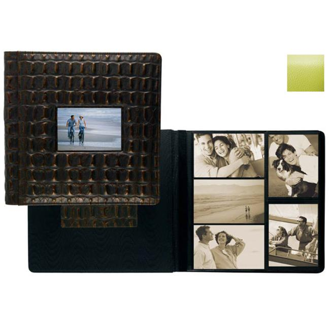 Raika RO 113-D LIME Frame Front Scrapbook Album - Lime