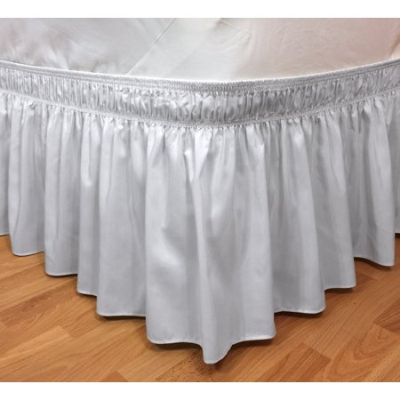 Bed Skirt Pins Walmart.Elegant Elastic Ruffle Bed Skirt Easy Warp Around King Queen Size Bed Skirt Pins Included White Easy Fit Elastic Wrap Around Style Looks Beautiful