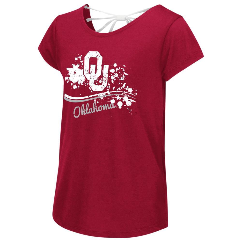 University of Oklahoma Sooners Youth Girls Bow Back Short Sleeve Tee