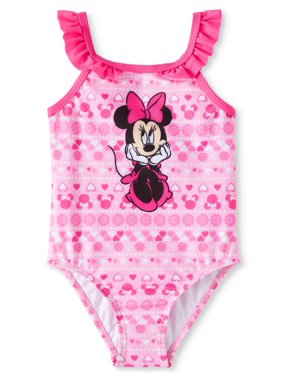 Minnie Mouse Ruffle Sleeve 1pc Swimsuit (Baby Girls)