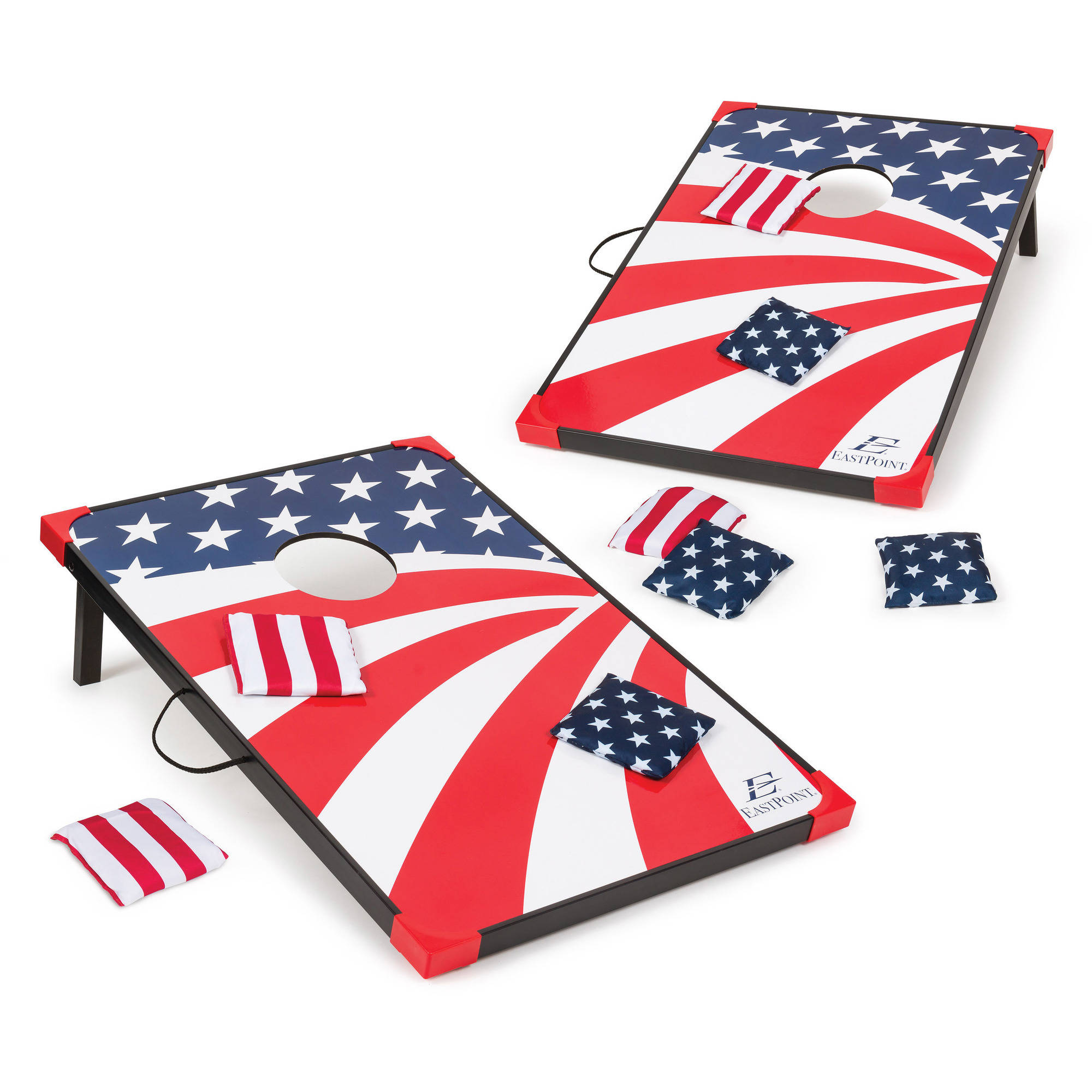 EastPoint Sports Stars & Stripes Cornhole Bean Bag Toss Game – 36in x 24in