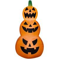 Gemmy Halloween Airblown Inflatable Jack O Lantern Stack 4FT Deals
