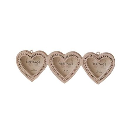 Gorgeous Set Of 3 Heart Shape Photo Frame Walmartcom
