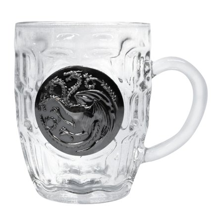 Game of Thrones House Targaryen Crystal Stein | Unique Drinking Glass | 16 (Drinking Stein)