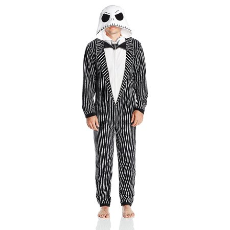 Nightmare Before Christmas Men's Uniform Union Suit, Large - Nightmare Before Christmas Halloween Village