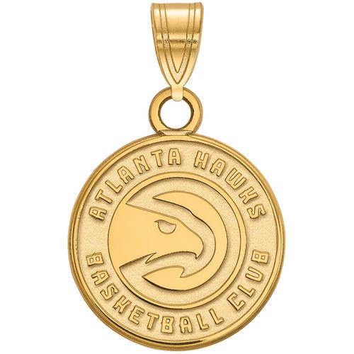 LogoArt NBA Atlanta Hawks 14kt Yellow Gold Small Pendant