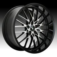Konig LA Lace Machined Black 16x7 5x110 / 5x115 40mm (LA67T15405)