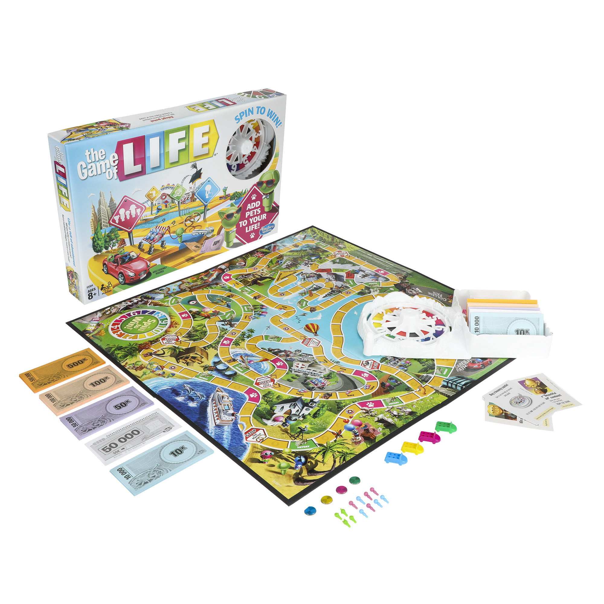 The Game of Life game by Hasbro