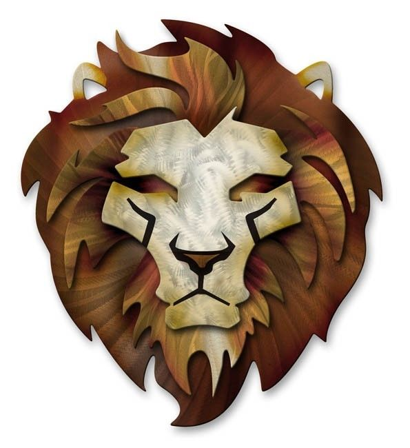 Details about Lion Metal Wall Sculpture Art Contemporary Home Decor Modern Wall Hanging