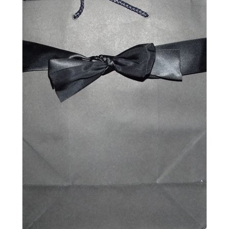 - Sales Max Solid Black For Keeps Gift Bag with Bow