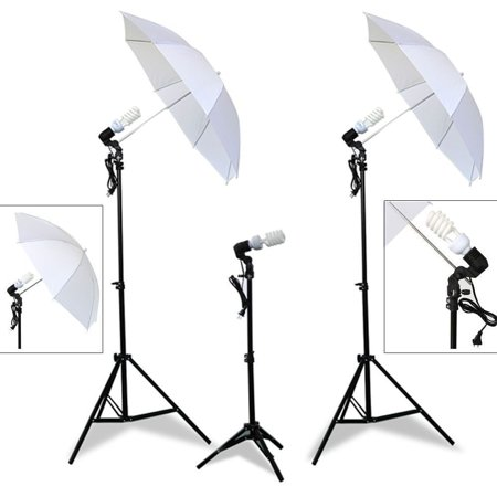 - Photo Studio Continuous Lighting One Umbrella Lamp Photography Stand Kit