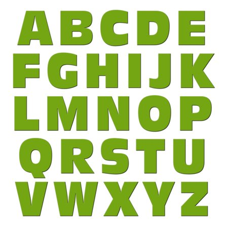 Alphabet Letters Uppercase Green MAG-NEATO