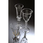 Abigails Ophelia Water Glass with Gold Accents