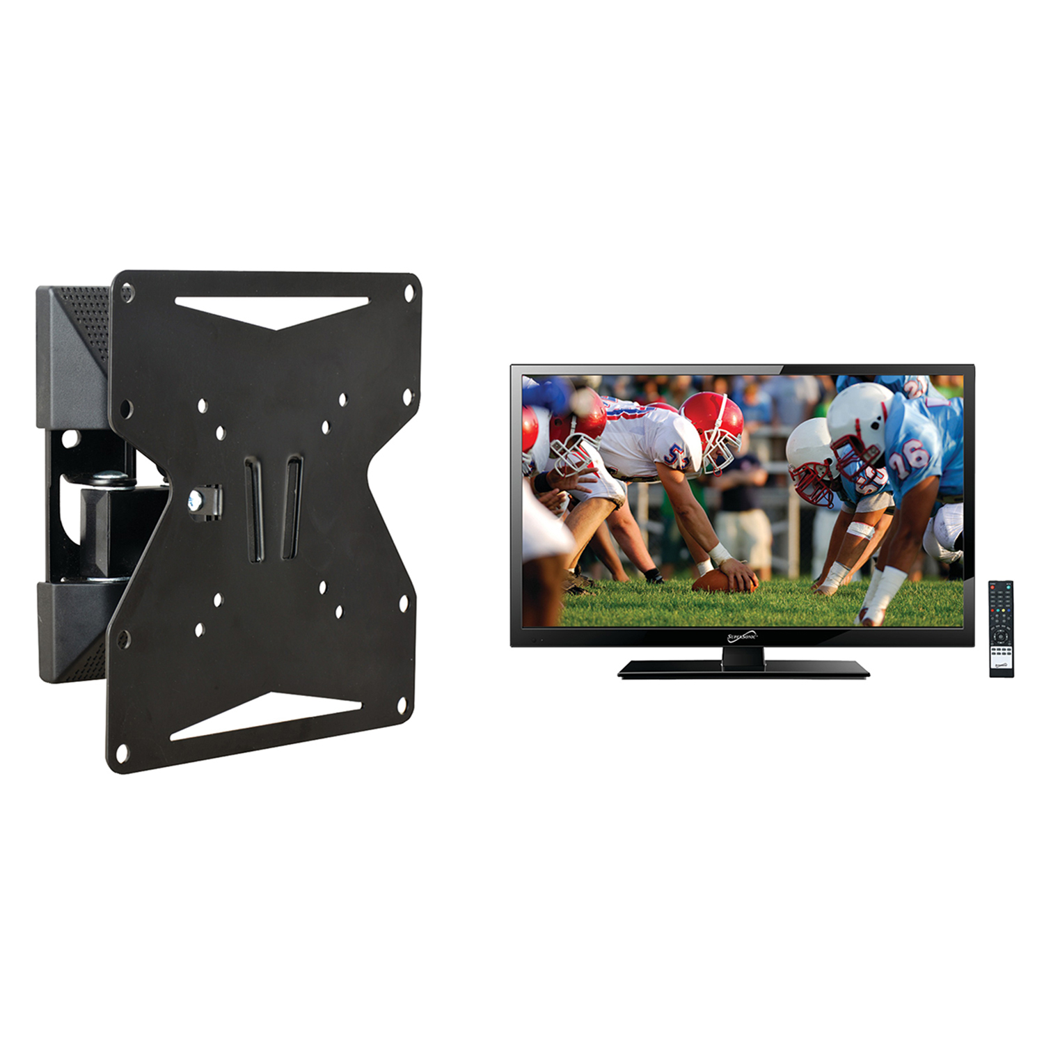"Supersonic 19"" Class HD (720P) LED TV (SC-1911) and Stanley TMX-022FM Basics Full-Motion Mount"