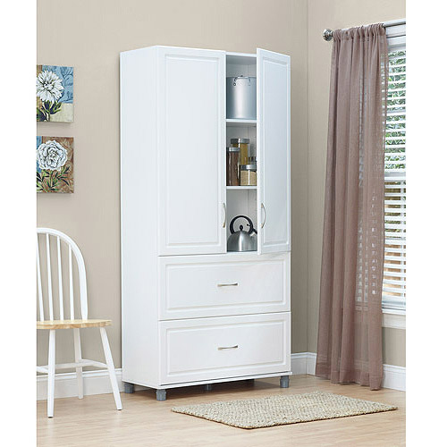 SystemBuild 2 Drawer / 2 Door Utility Storage Cabinet, White  7364401PCOM