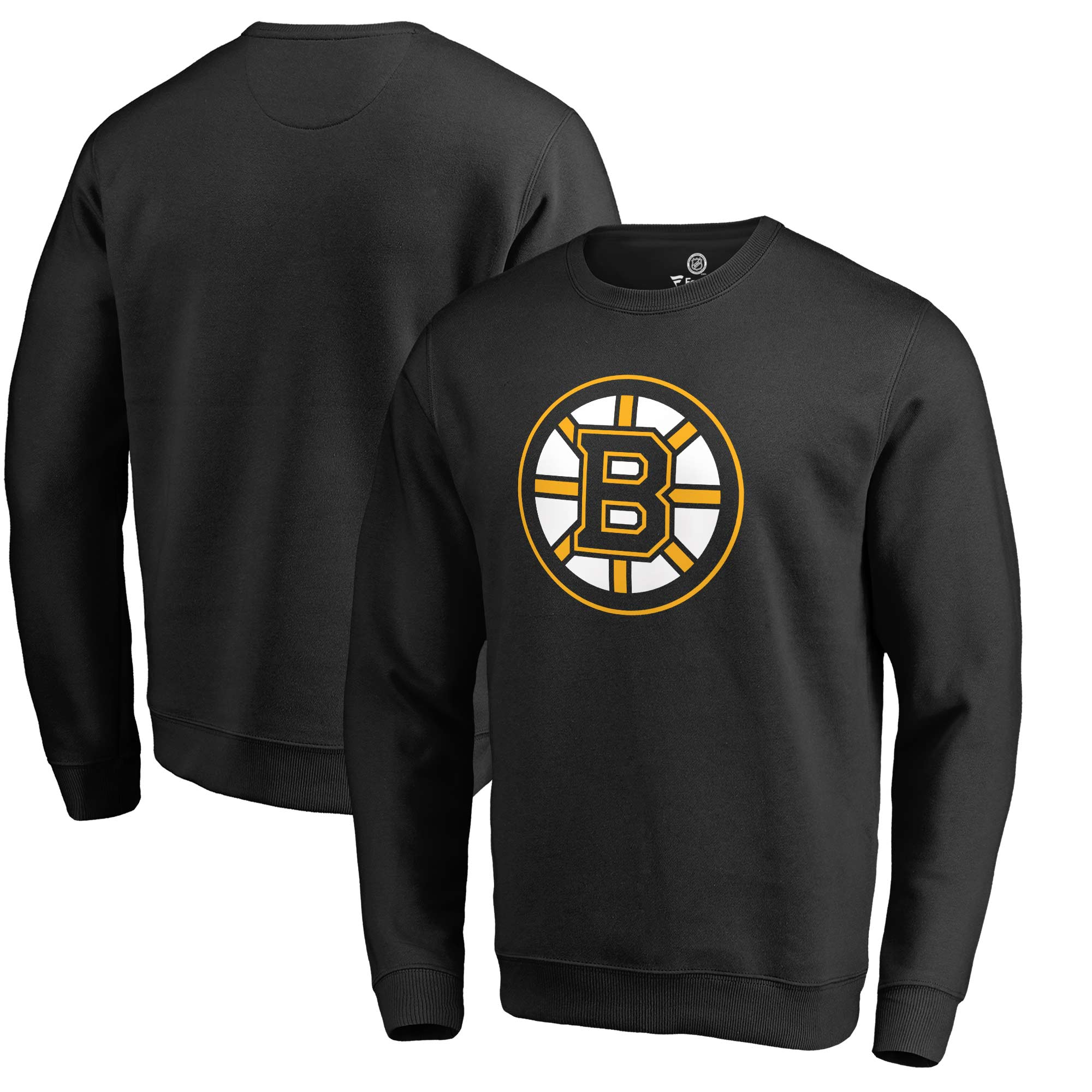 Boston Bruins Fanatics Branded Primary Team Logo Pullover Sweatshirt - Black