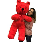 Jumbo Red Teddy Bear 46 Inches Big Plush Soft Stuffed Animal Weighs 10 Pounds Made in USA