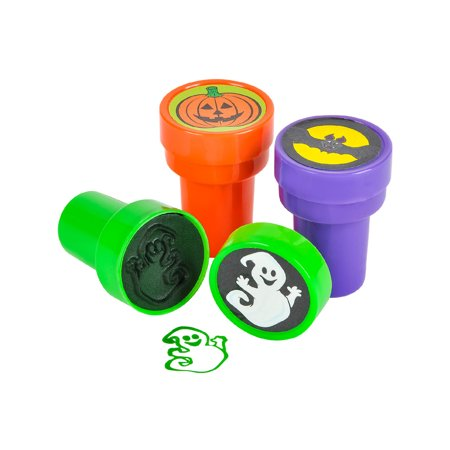 Set Of 24 Assorted Plastic Stamper Stamps Art Halloween Decoration Kit