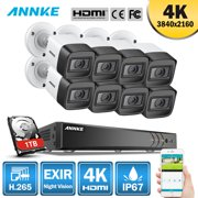 ANNKE 8CH Ultra HD 4K 8PCS CCTV Camera System with 1TB HDD