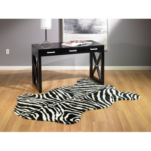 Walk On Me Animal Zebra Narrow Striped Area Rug