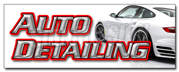 AUTO DETAILING DECAL sticker car wash wax automobile clean detail motorcycle by SignMission