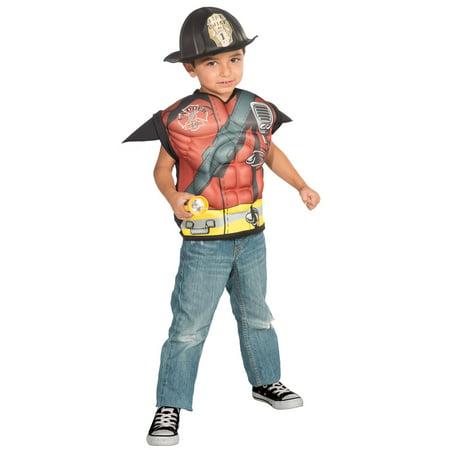(Muscle Fireman Shirt Set)