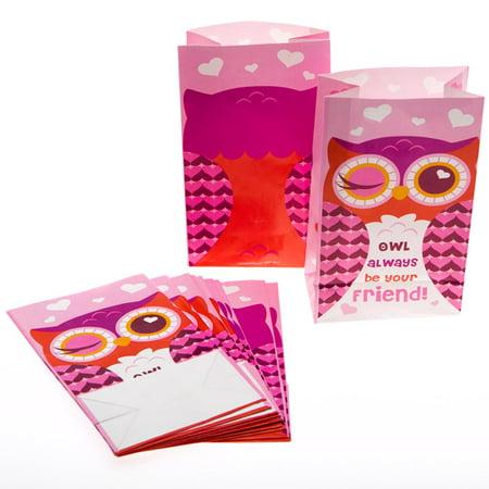 Owl Valentine's Day Treat Bags](Valentine Owl)