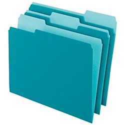 - Office Depot Two-Tone Color File Folders, 1/3 Tab Cut, Letter Size, Teal, Box Of 100, OD152 1/3 TEA