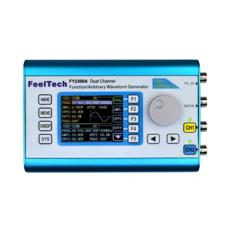Signal Analysis Meter (High Precision Digital DDS Dual-channel Multifunction Signal Source Generator Arbitrary Waveform/Pulse Generator Frequency Meter 200MSa/s)