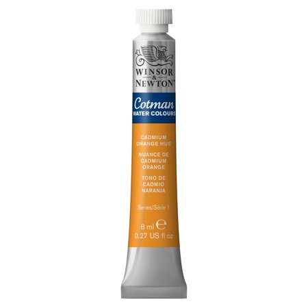 Winsor & Newton Cotman Watercolor, 8ml Tube, Cadmium Orange Hue