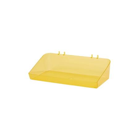 "Clear Yellow Plastic Tray for Slatwall - 6½""L x 12""W x 3""D - Set of 2"