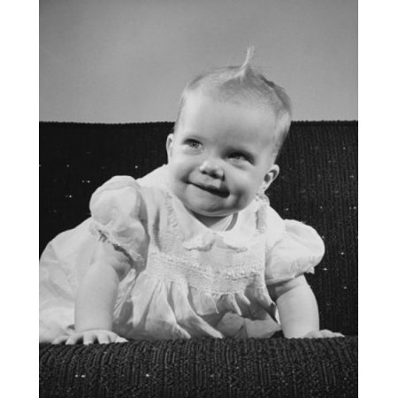 Baby girl smiling Canvas Art - (18 x 24)