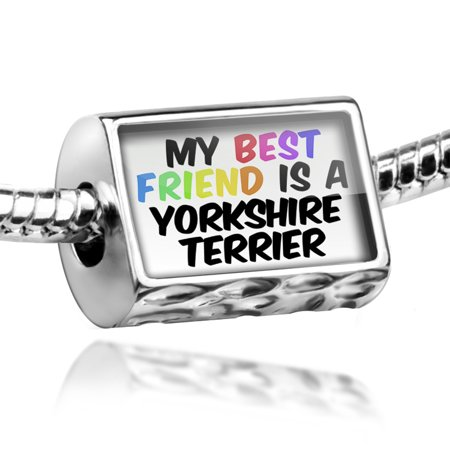 Bead My best Friend a Yorkshire Terrier Dog from England Charm Fits All European Bracelets