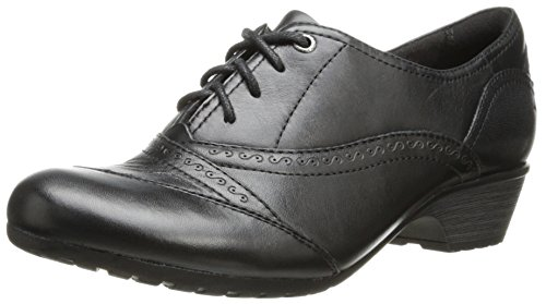 Rockport Cobb Hill Women's Georgina-Ch Lace-Up Oxford, Black, 6.5 M US by Cobb Hill by New Balance