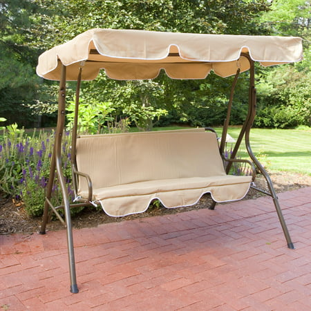 Coral Coast Ginger Cove 2 Person Adjustable Tilt Metal Canopy Porch Swing- Light Bronze ()