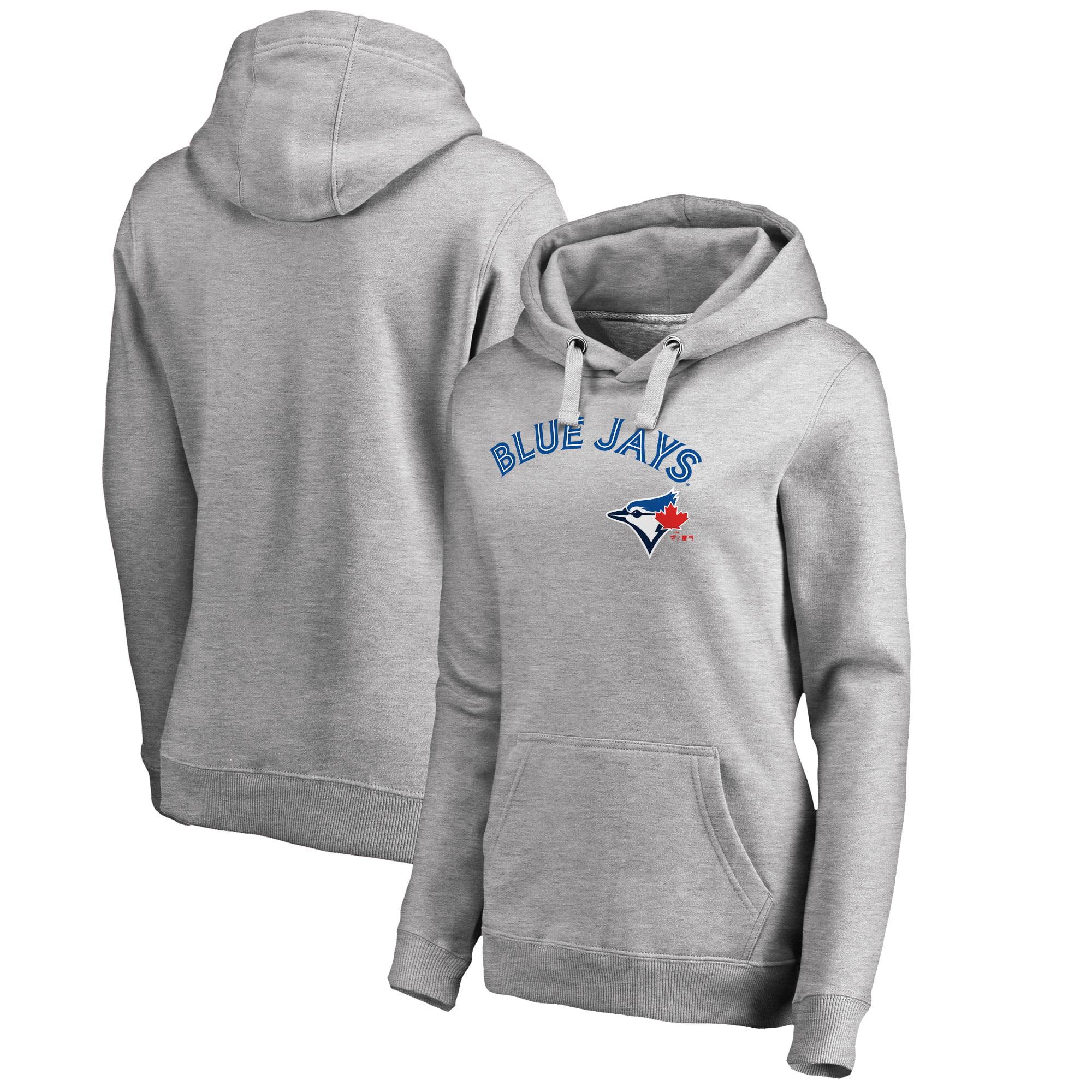 Toronto Blue Jays Fanatics Branded Women's Plus Size Team Lockup Pullover Hoodie - Heathered Gray